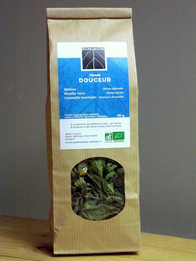 Sachet, tisane, Contretemps, plantes sèches, infusion